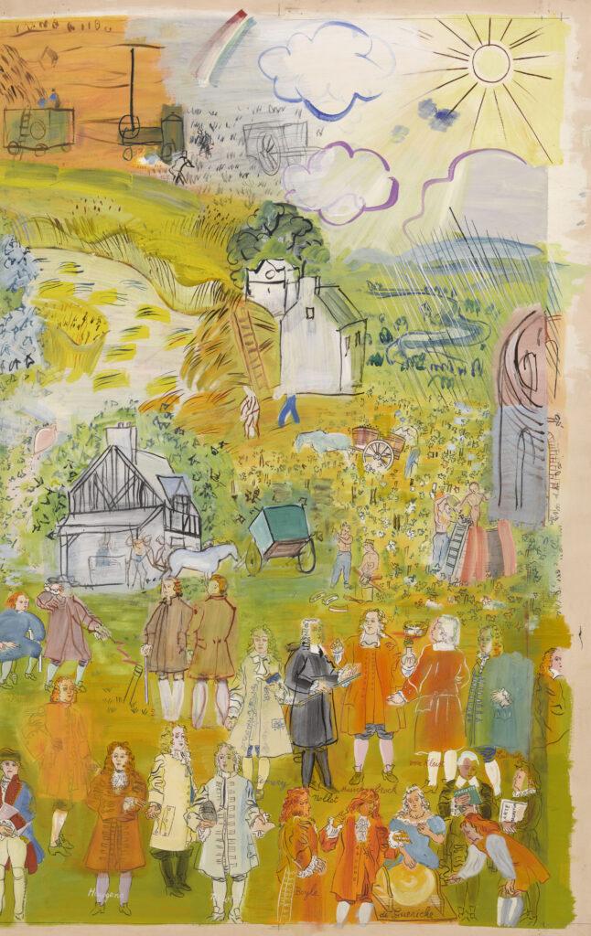 Raoul Dufy, La Fée Electricité (partie droite), 1952-1953