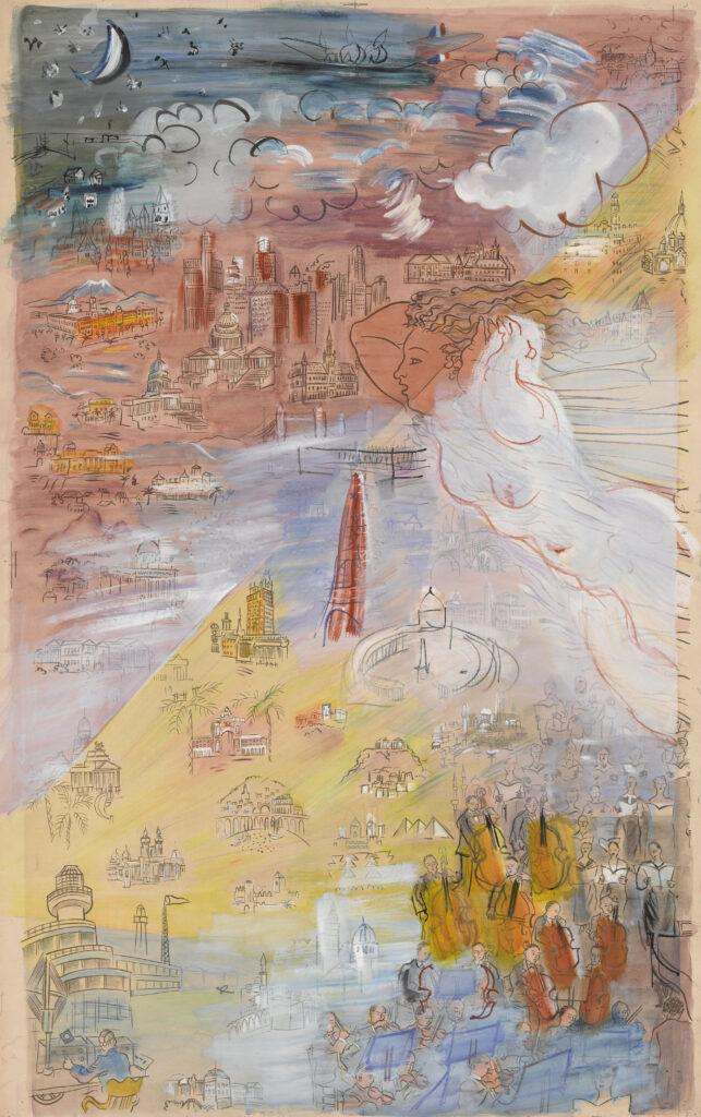 Raoul Dufy, La Fée Electricité (partie gauche), 1952-1953