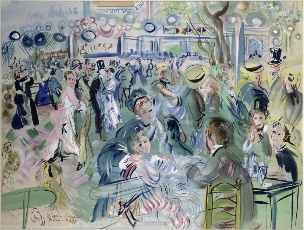 Raoul Dufy, Le Moulin de la Galette, 1939