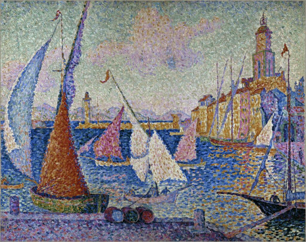 Paul Signac, Saint-Tropez, le quai, 1899