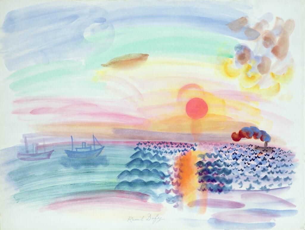 Raoul Dufy, Coucher de soleil