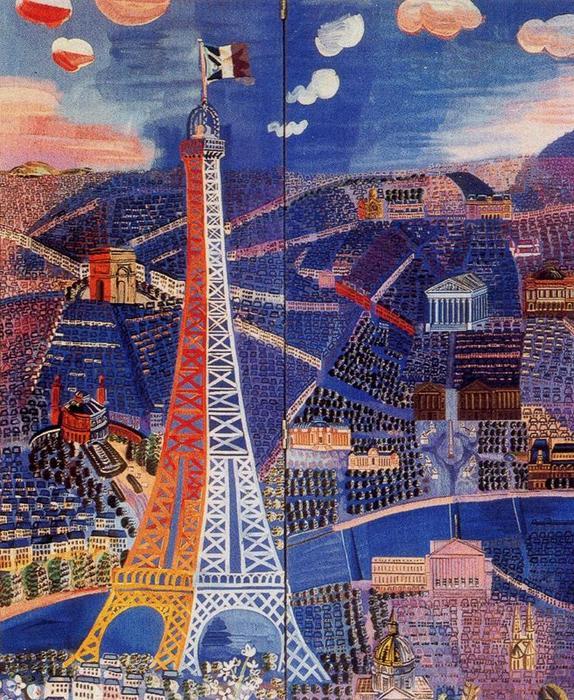 Raoul Dufy, Panorama de Paris, 1933