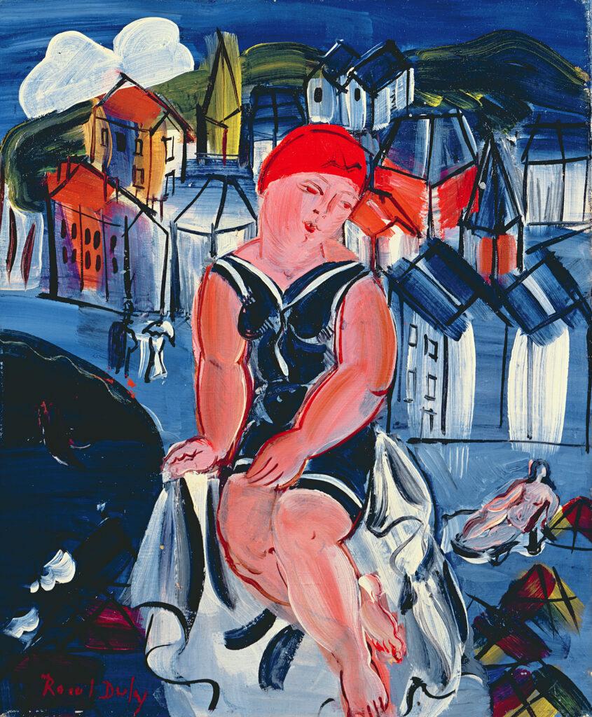 Raoul Dufy, Petite baigneuse à Sainte-Adresse, 1932-1933