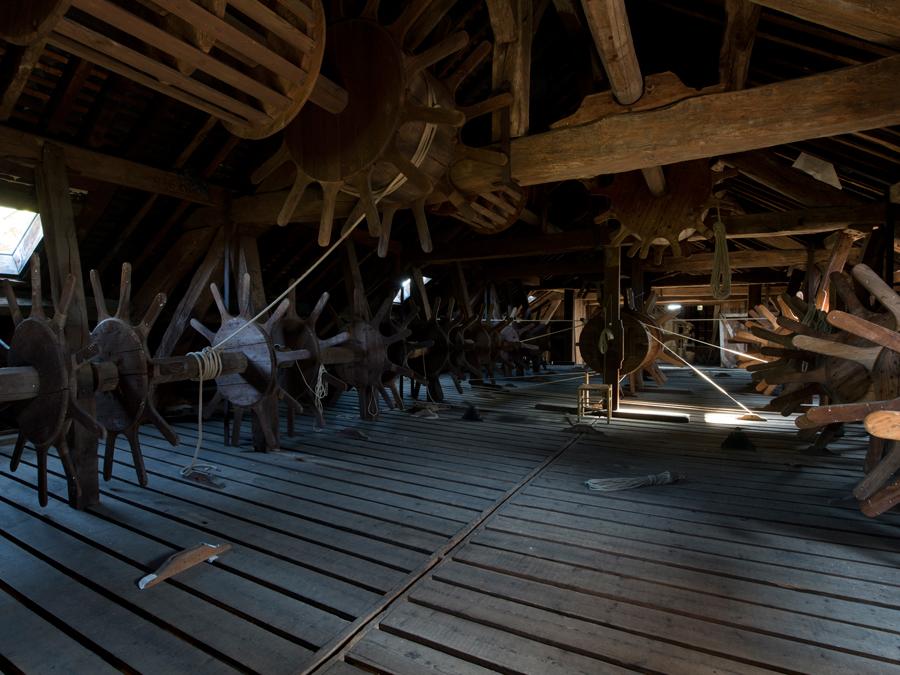 La machinerie d'origine du XVIIIe siècle