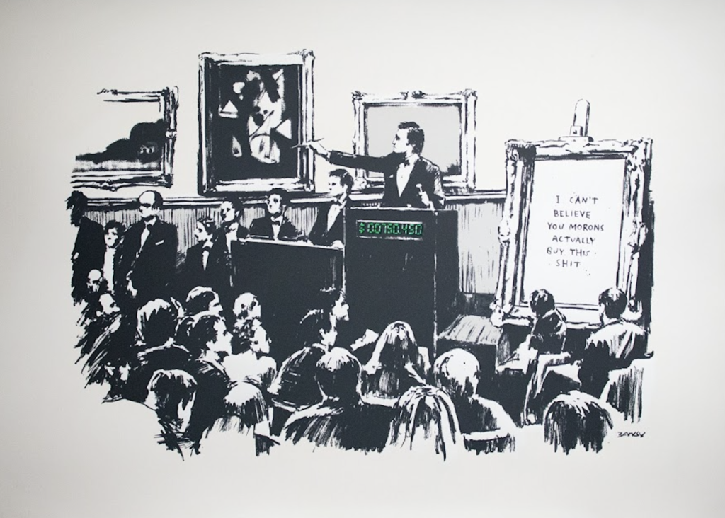 Banksy, Morons, 2006