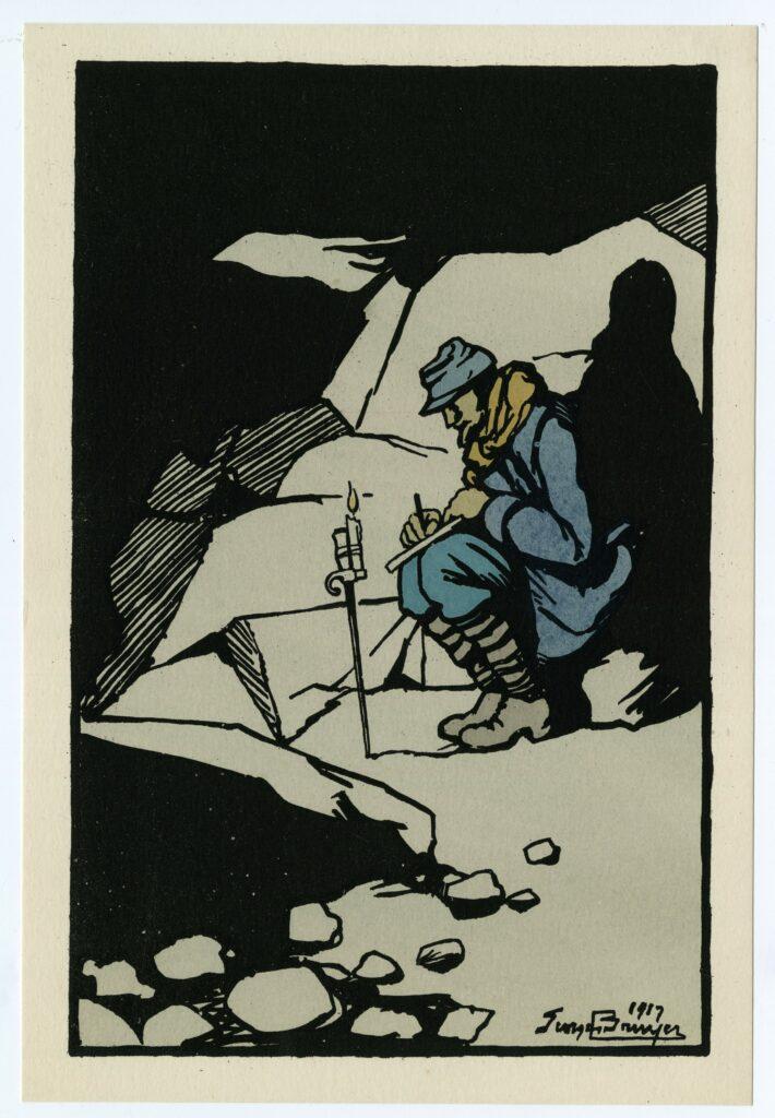 La lettre, Georges Bruyer, 1917
