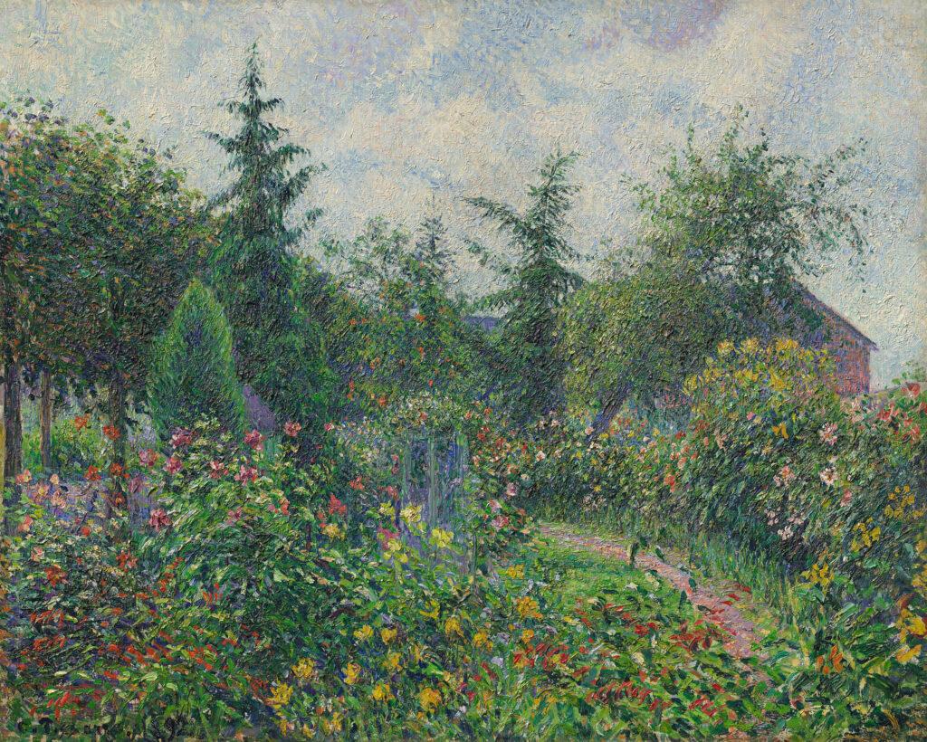 Camille Pissarro, Jardin et poulailler chez Octave Mirbeau, Les Damps, 1892