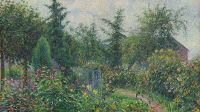 Coté jardin musée des impressionnismes,PISSARRO_Jardin et poulailler chez Octave Mirbeau Collection Hasso Plattner