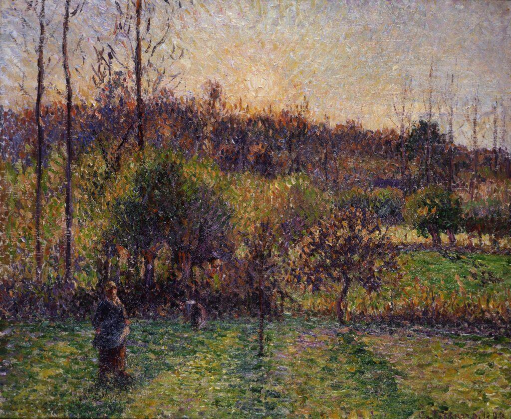 Camille Pissarro, Soleil levant à Eragny, 1894