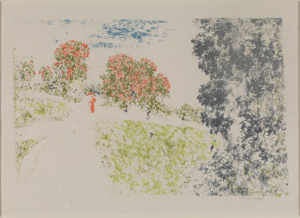 Ker-Xavier Roussel, Femme en rouge dans un paysage, 1898