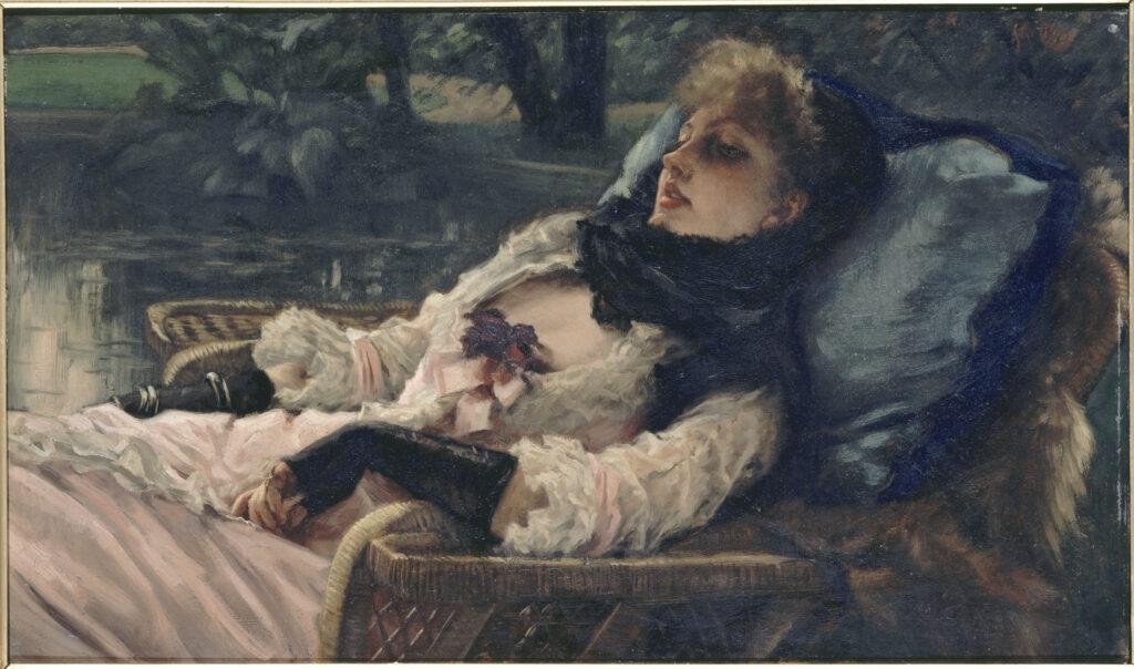 James Tissot, La rêveuse ou Soirée d'été, vers 1876