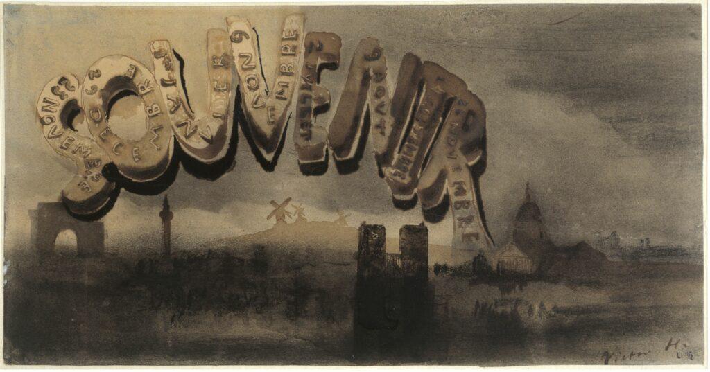 Victor Hugo, Souvenir , vers 1864