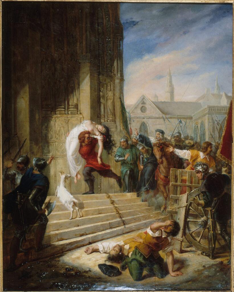 Eugénie Henry épouse Latil, Quasimodo sauvant la Esmeralda des mains de ses bourreaux, 1832