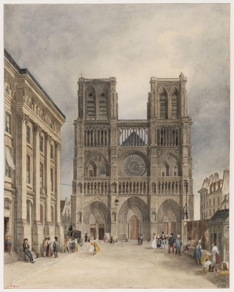 Charles Fréchot, Le Parvis de Notre-Dame