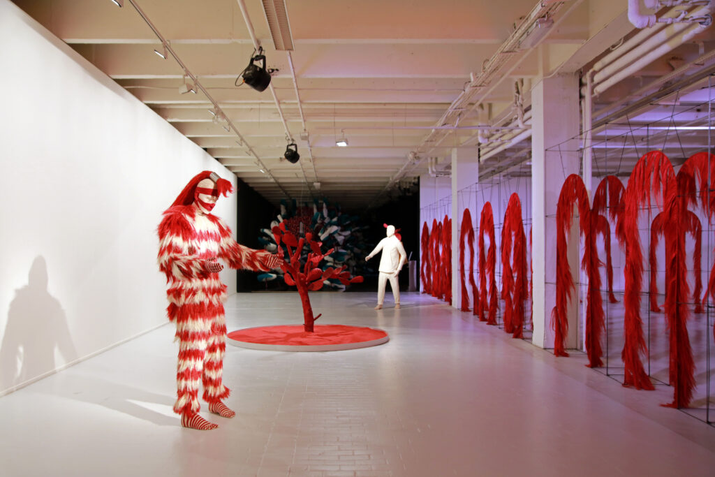 Vue de l'exposition Colors, Tripostal de Lille, Fernando Laposse