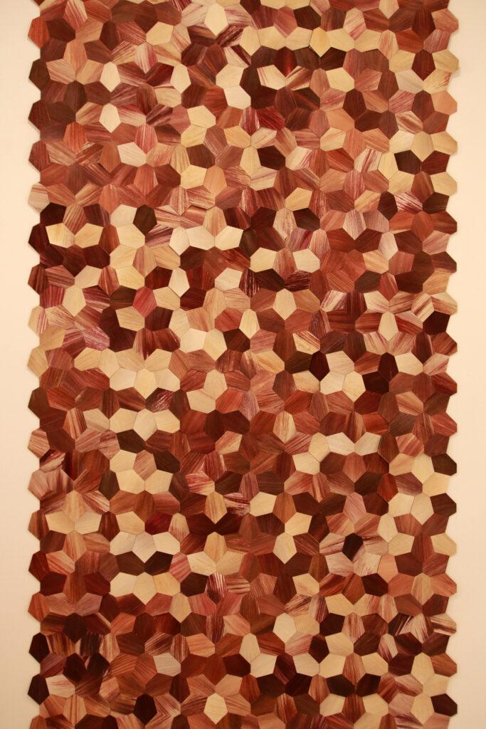 Vue de l'exposition Colors, Tripostal de Lille, Fernando Laposse - Totomoxtle -2018