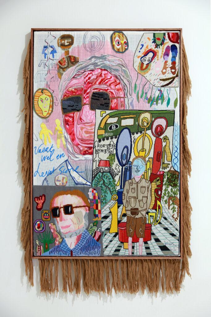 Vue de l'exposition Colors, Tripostal de Lille, Klas Rommelaere - Dark Uncles (vue d'ensemble 2) - 2010 (1)