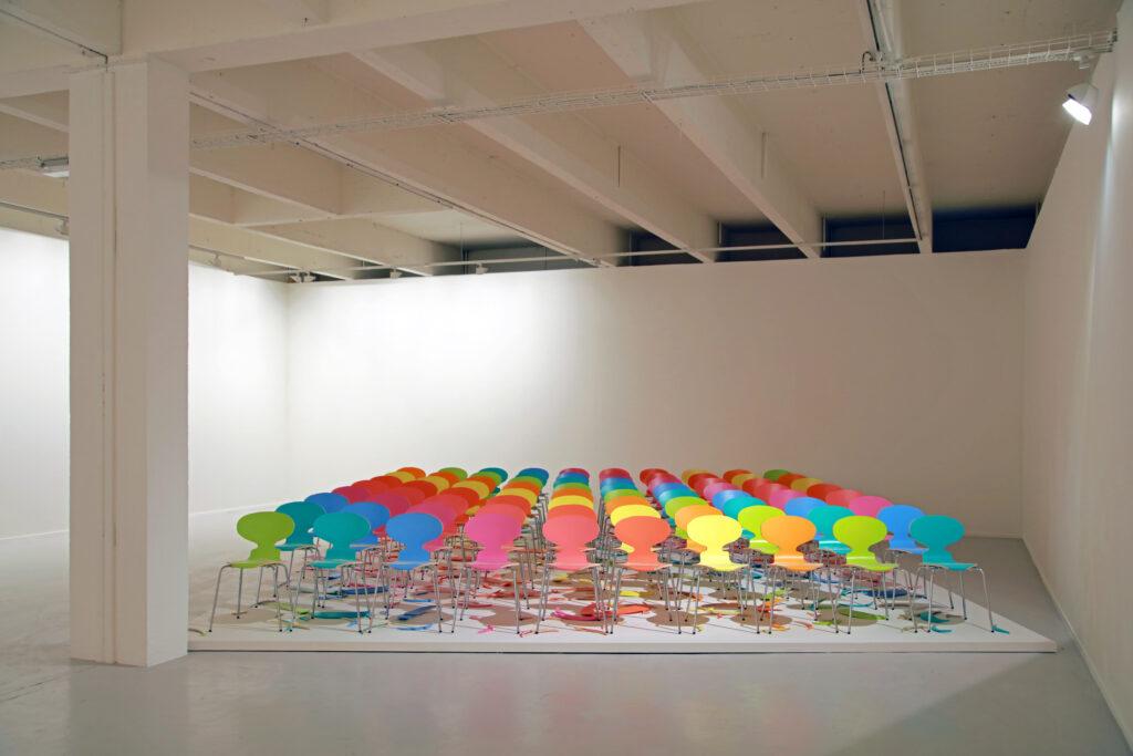 Vue de l'exposition Colors, Tripostal de Lille, Superflex - Copyright (Colour version) - 2017