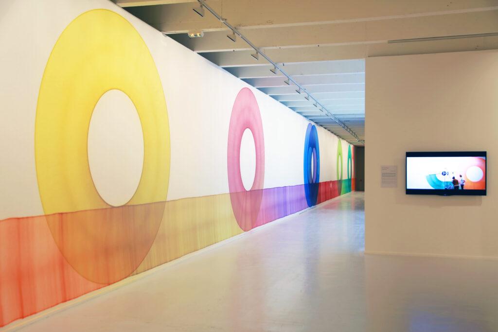 Vue de l'exposition Colors, Tripostal de Lille, Thomas Trum - Looping Line - 2021