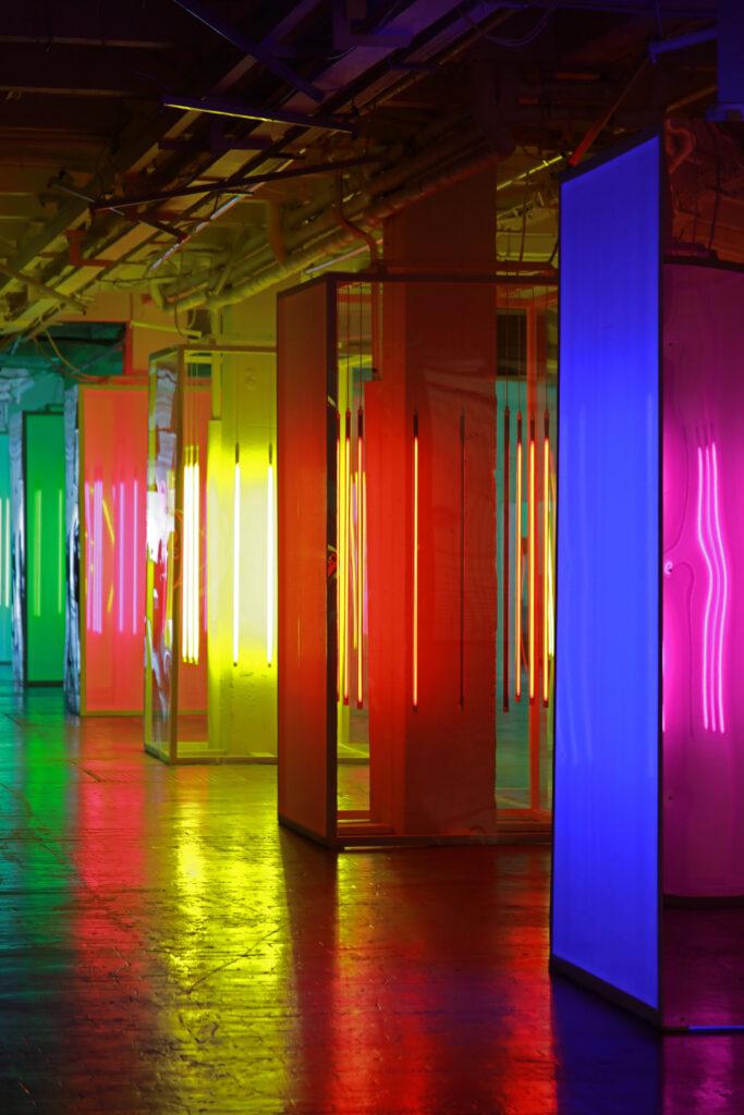 Vue de l'exposition Colors, Trispotal de Lille, Liz West - Remain in Light - 2021 (3)