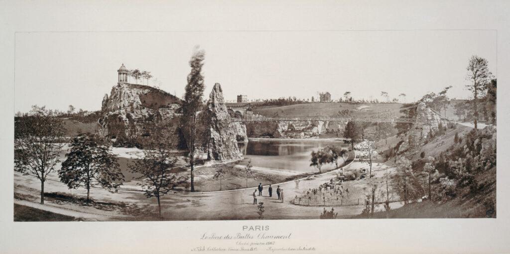 Image anonyme du parc des Buttes Chaumont