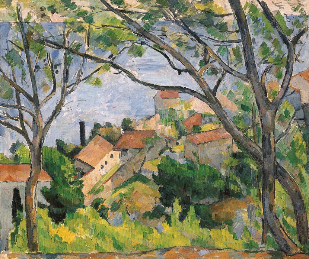 Paul Cézanne, Vue de l'Estaque à travers les arbres, 1879