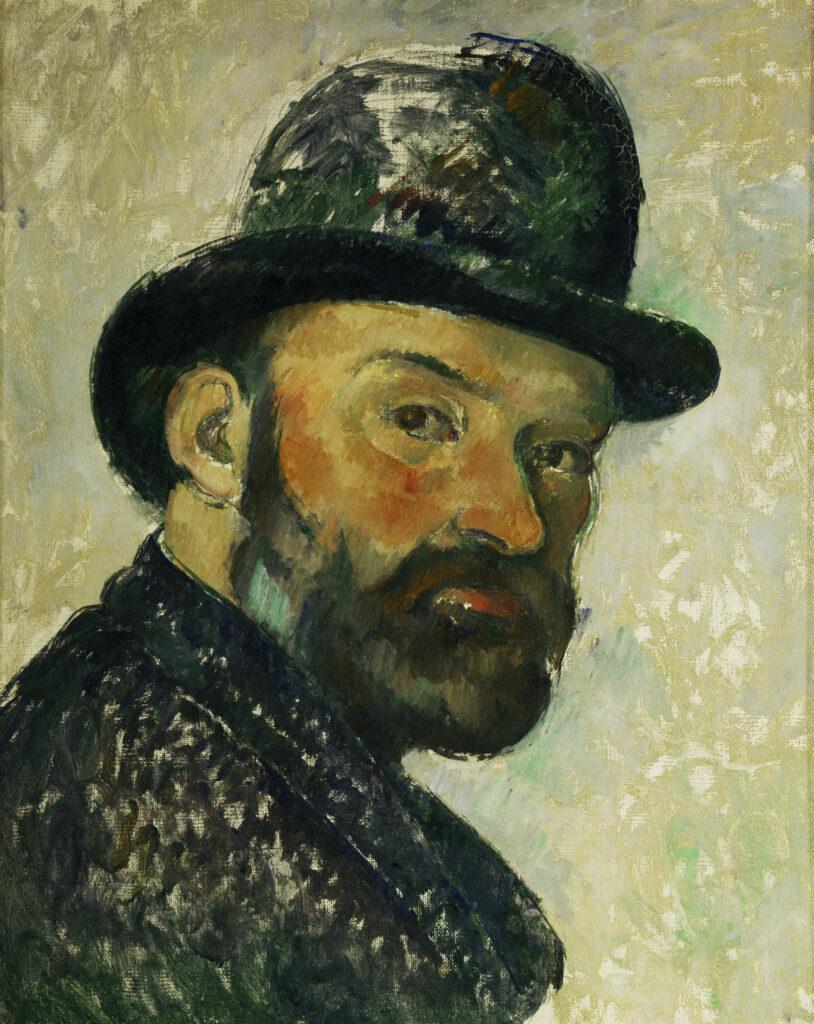Paul Cézanne, Autoportrait au chapeau melon, 1885-1886