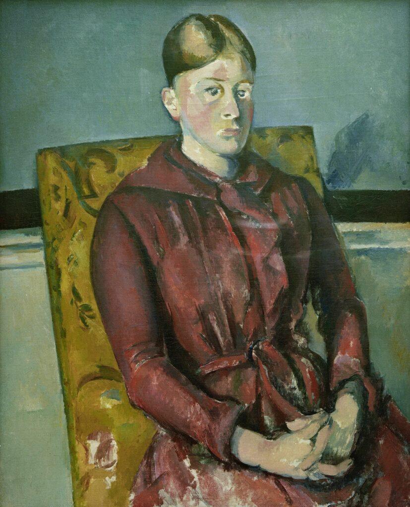 Paul Cézanne, Madame Cézanne au fauteuil jaune, vers 1888-1890