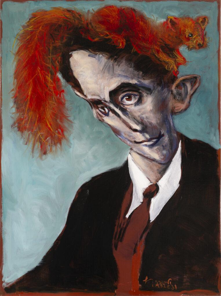 Gérard Garouste, Kafka et l'écureuil, 2019