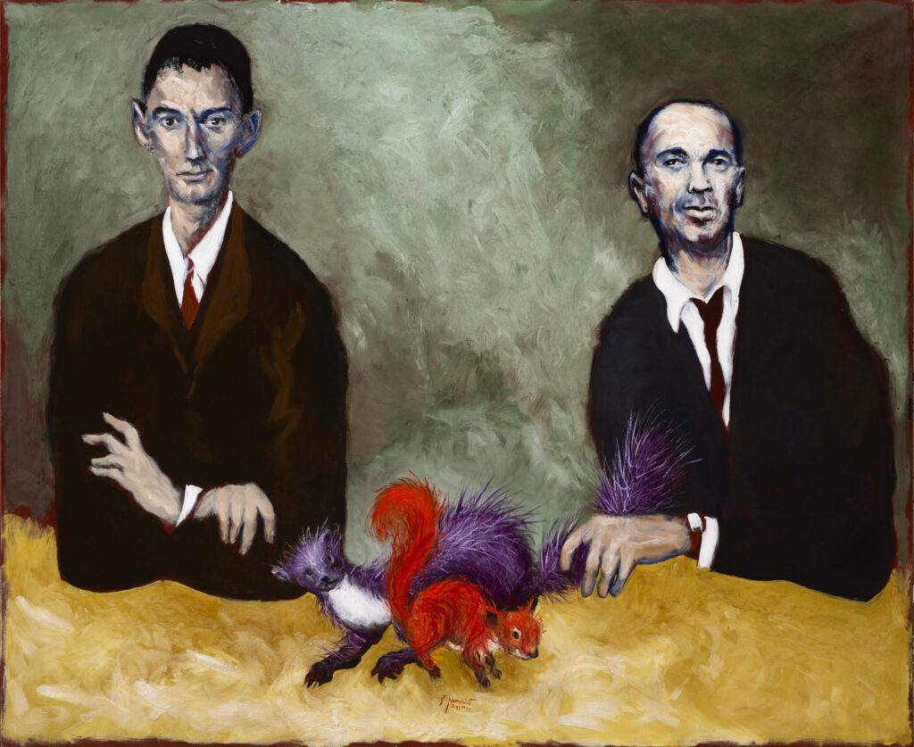 Gérard Garouste, La marthe et l'écureuil ( Portraits de Kafka et Chouchani), 2019