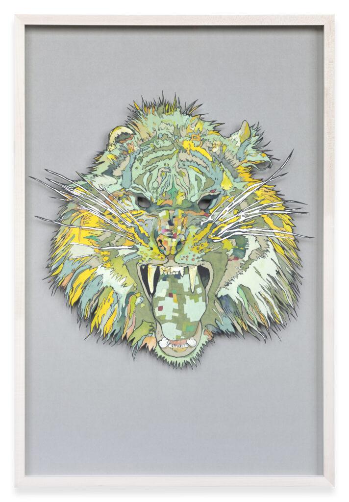 Francois Andes, Masque 3, le Tigre Gardien de l'Ouest, 2018