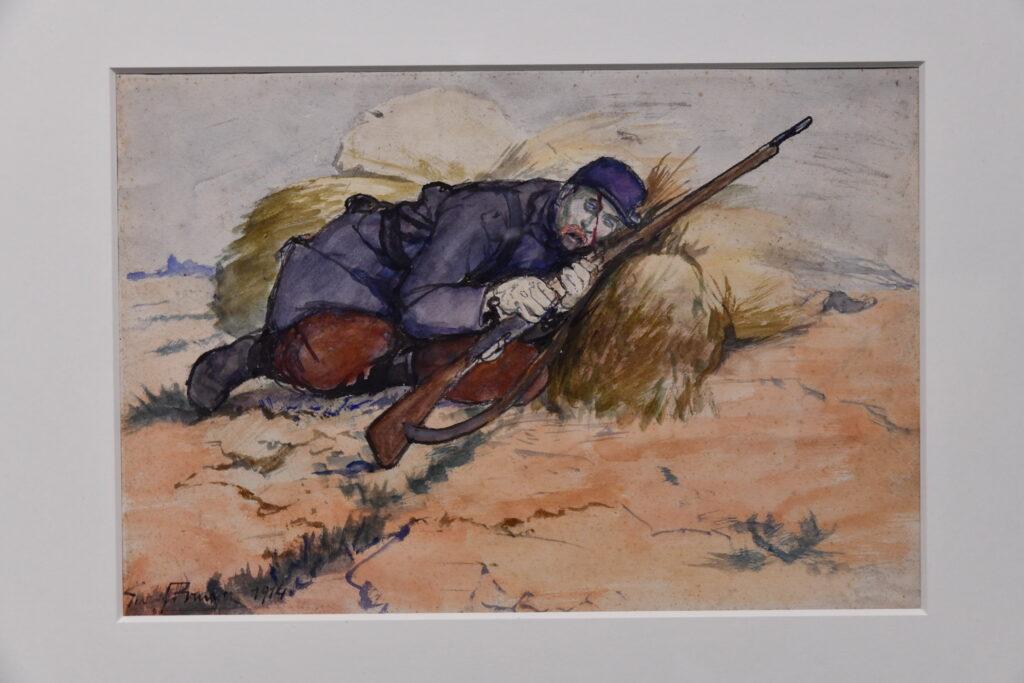 Georges Bruyer au musée de la Grande Guerre de Meaux