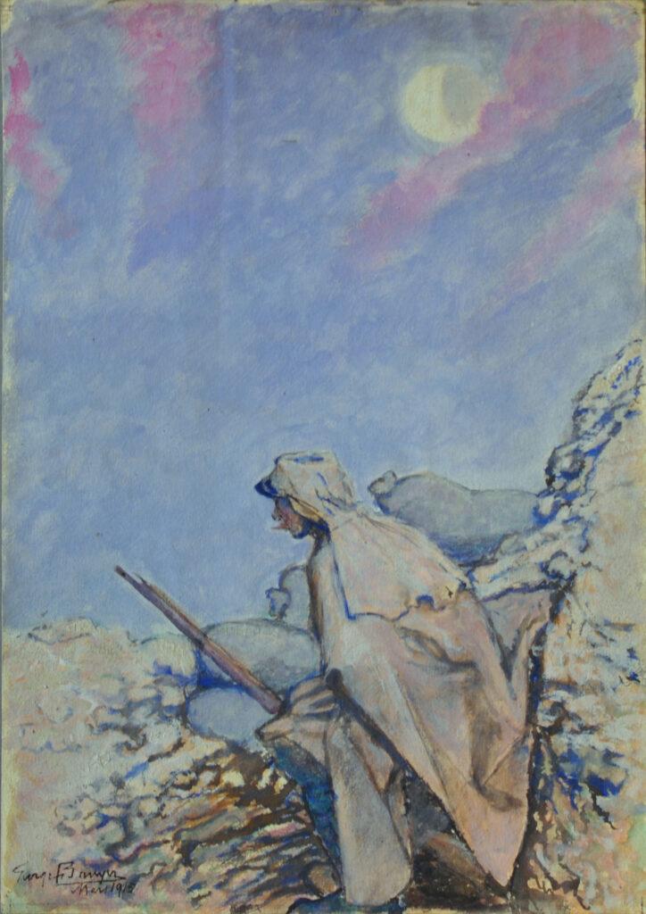 Dans la tranchée, le Guet, Georges Bruyer, 1915
