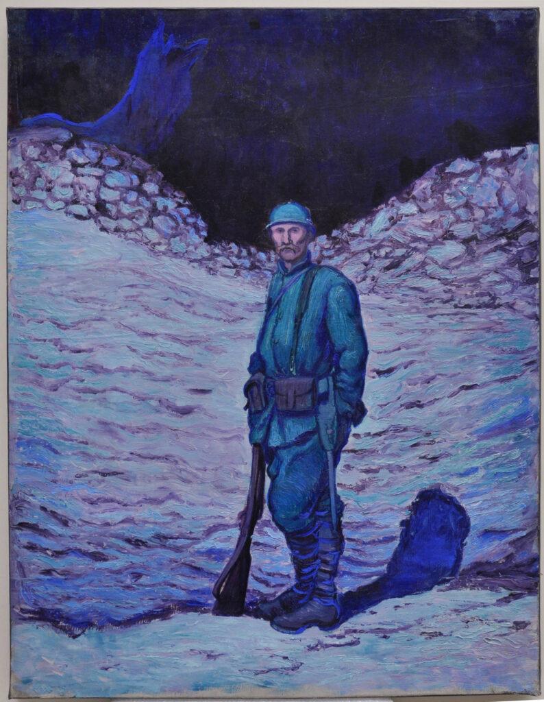 Un poilu debout dans la tranchée, Georges Bruyer, 1917