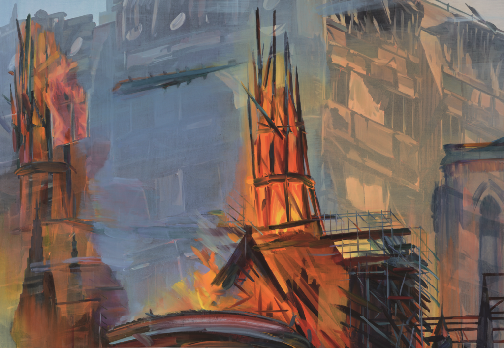 Duncan Wylie, Grenfell - Notre Dame, The Capital of Hell, 2020