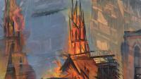 Histoires en peinture, château du Val Fleury, Duncan Wylie, Grenfell - Notre Dame, The Capital of Hell, 2020