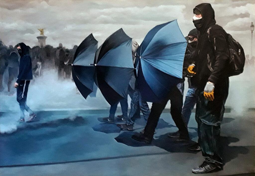 Jerome Romain, Les parapluies du faubourg, 2020