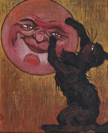 T. A. Steinlen, Frise de chats et lunes,1885