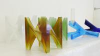 Lettres de verre, Musverre, Karine Faby, première restitution des lettre N, Y, ...