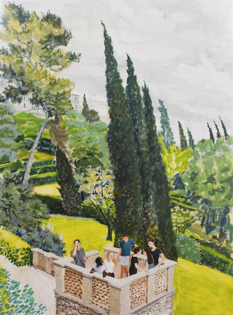 Adolescents dans un jardin italien, Lin Wenjie, 2020