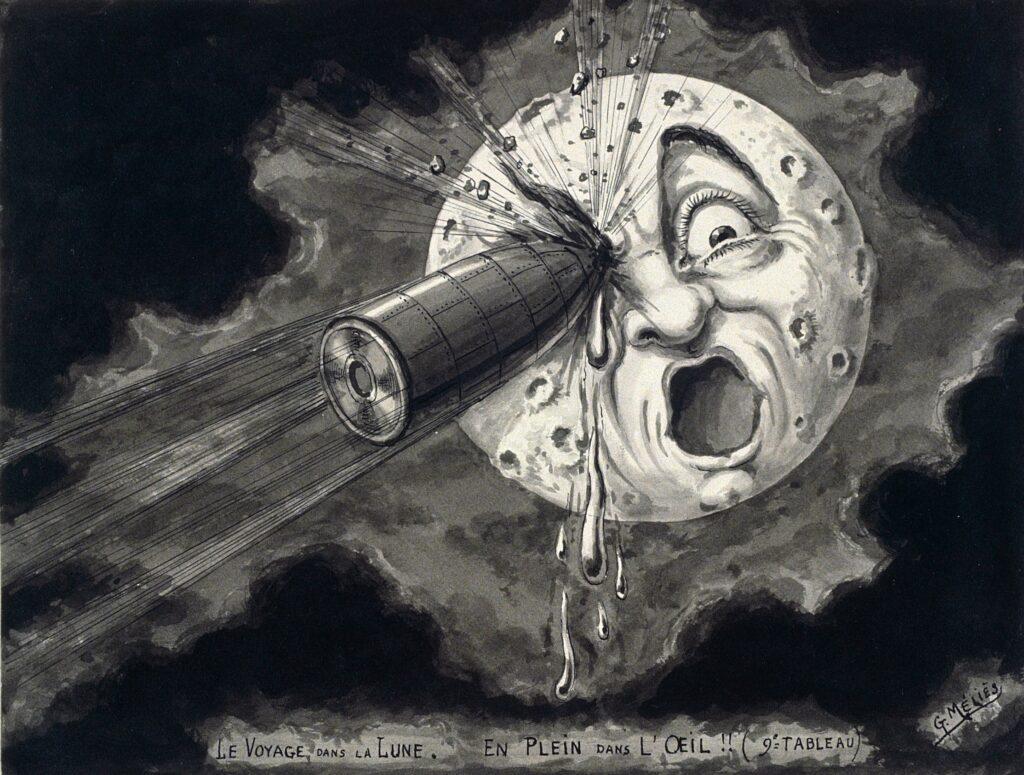 Georges Méliès, Le Voyage dans la Lune, vers 1936.