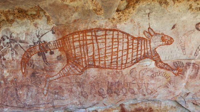 Plus vieille peinture rupestre représentant un kangourou découverte en Australie-Occidentale
