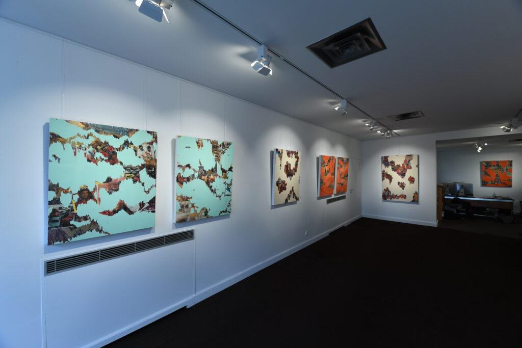 Vue de l'exposition Banjamin Baccarrani à la Galerie de l'Europe