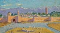Winston Churchill, Tower of the Koutoubia Mosque, 1943