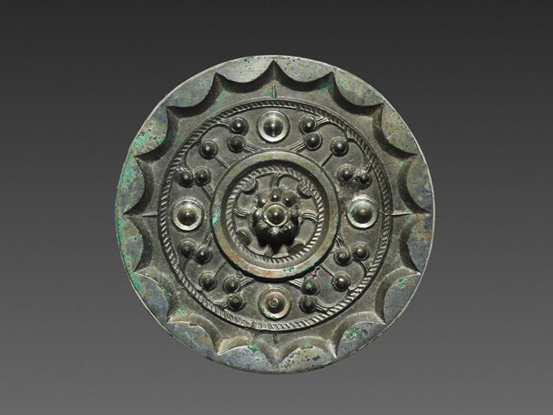 Miroir en bronze de la dynastie Han