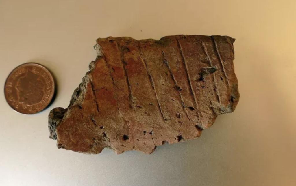 Morceau d'une céramique en terre cuite, Skokholm (Pays de Galles)