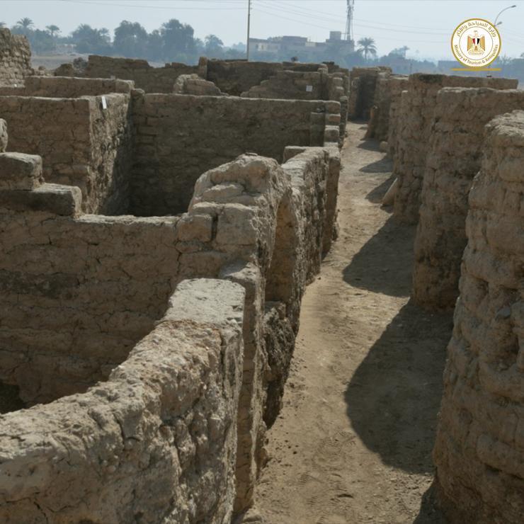 Vestiges de la plus vieille ville antique d'Egypte