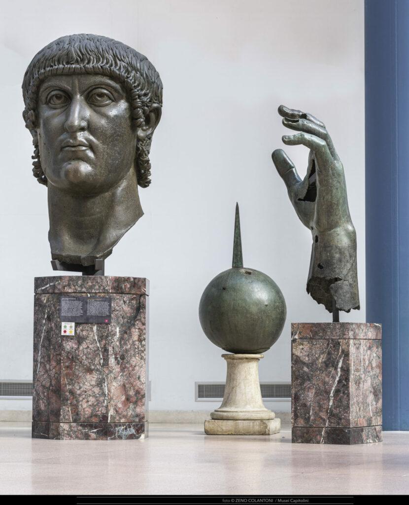 La main et la tête de Constantin aux musées du Capitole