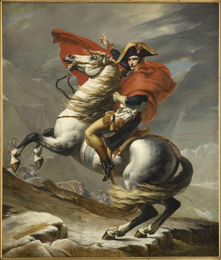 Jacques-Louis David, Bonaparte, Premier consul, franchissant le Grand Saint-Bernard le 20 mai 1802