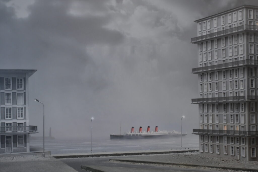 Vue de l'exposition Du merveilleux en architecture au conte photographique